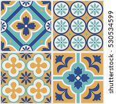 decorative tile pattern design. ... | Shutterstock .eps vector #530534599