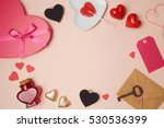 valentine's day background with ... | Shutterstock . vector #530536399