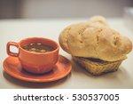 hot coffee | Shutterstock . vector #530537005