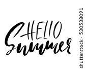 hello summer hand drawn... | Shutterstock .eps vector #530538091