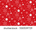 christmas and new year seamless ... | Shutterstock .eps vector #530539729