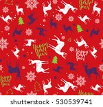 happy new year seamless pattern.... | Shutterstock .eps vector #530539741