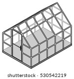 a small domestic greenhouse  ... | Shutterstock .eps vector #530542219