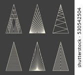 set of linear graphic stylized... | Shutterstock .eps vector #530542504