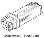 a laser printer toner cartridge ... | Shutterstock .eps vector #530542585
