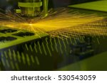 the laser cutter machine while... | Shutterstock . vector #530543059