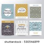 christmas illustration set | Shutterstock .eps vector #530546899