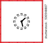 fork knife clock icon vector... | Shutterstock .eps vector #530548807