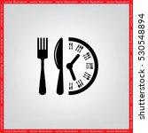 fork knife clock icon vector...   Shutterstock .eps vector #530548894