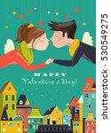 couple in love celebrating... | Shutterstock .eps vector #530549275
