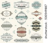 vintage ornate labels  signs ... | Shutterstock .eps vector #530549887