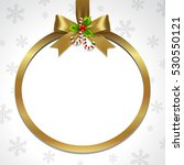 illustration of gold ribbon bow ... | Shutterstock .eps vector #530550121