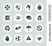 protection icons | Shutterstock .eps vector #530554225