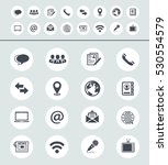 media and communication icons | Shutterstock .eps vector #530554579