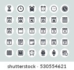time and date icons | Shutterstock .eps vector #530554621