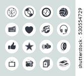 entertainment icons set | Shutterstock .eps vector #530554729
