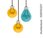 colorful hanging bulbs with...   Shutterstock .eps vector #530555257