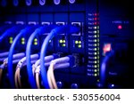 server fiber network fiber... | Shutterstock . vector #530556004