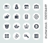 banking icons set | Shutterstock .eps vector #530556649