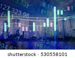 charts of financial instruments ... | Shutterstock . vector #530558101