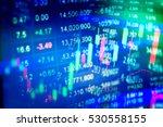 charts of financial instruments ... | Shutterstock . vector #530558155