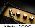 black guitar amplifier with... | Shutterstock . vector #530560459