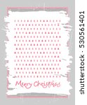 christmas hand drawn template... | Shutterstock .eps vector #530561401