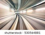 subway underground tunnel with... | Shutterstock . vector #530564881
