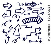hand drawn arrows doodle set... | Shutterstock .eps vector #530573395