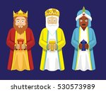 three wise men cartoon... | Shutterstock .eps vector #530573989
