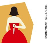 woman with knife vector... | Shutterstock .eps vector #530578501