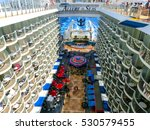 Small photo of Barselona, Spaine - September, 6 2015: The ship Royal Caribbean, Allure of the Seas