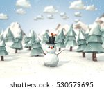 cartoon style low poly 3d... | Shutterstock . vector #530579695