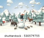cartoon style low poly 3d... | Shutterstock . vector #530579755