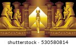 the egyptian queen and four... | Shutterstock .eps vector #530580814