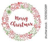merry christmas. hand drawn...   Shutterstock .eps vector #530582089