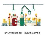 vector factory production... | Shutterstock .eps vector #530583955