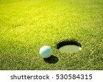 golf ball on the green. | Shutterstock . vector #530584315