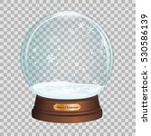 glass toy. snow realistic globe.... | Shutterstock .eps vector #530586139
