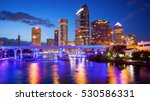 downtown tampa  florida skyline ... | Shutterstock . vector #530586331