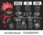 christmas menu template. vector ... | Shutterstock .eps vector #530589595