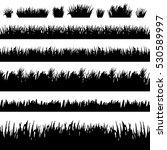 grass borders silhouette set on ...   Shutterstock .eps vector #530589997