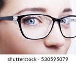 beautiful young woman wearing...   Shutterstock . vector #530595079