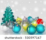 christmas decorations. glass... | Shutterstock . vector #530597167