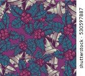 pattern of engraved chrismas... | Shutterstock .eps vector #530597887