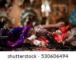 purple mardi gras mask on...   Shutterstock . vector #530606494