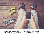 female fitness exercise. top... | Shutterstock . vector #530607745