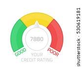 credit score gauge. flat...