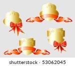 vector set of gold heraldic... | Shutterstock .eps vector #53062045
