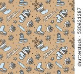 seamless christmas pattern.... | Shutterstock .eps vector #530621287